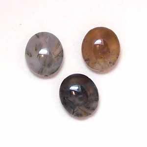 Fancy Jasper 14x12mm Flat Oval Beads (GE1116)