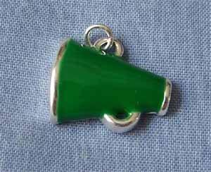 Green Megaphone Sports Charm (PC528)