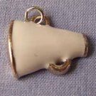White Megaphone Sports Charm (PC534)