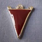 Maroon Pennant Sports Charm (PC539)