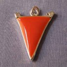 Orange Pennant Sports Charm (PC540)