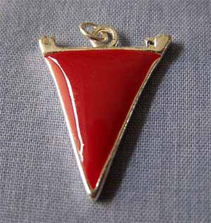 Red Pennant Sports Charm (PC542)