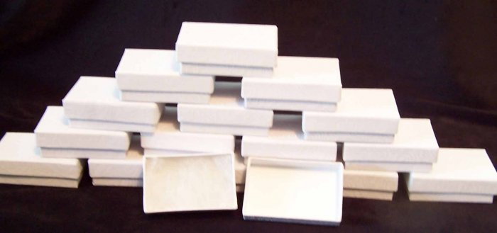 White Jewelry Boxes - Earring Size - Case of 100
