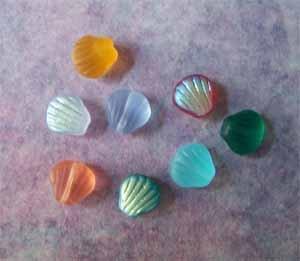 Czech Glass Shell Beads 8mm Assorted Colors (GL860)