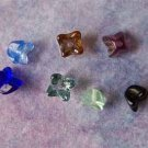 Czech Glass Flower Cap Beads 5x4mm Assorted Colors (GL864)