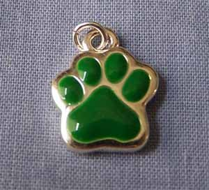 Green Paw Mini Sports Charm (PC548)