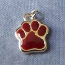 Maroon Paw Mini Sports Charm (PC549)
