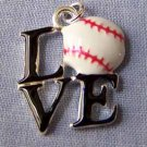 Love Baseball Sports Charm (PC594)