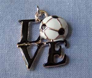 Love Soccer Ball Sports Charm (PC592)