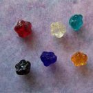 Czech Glass Drop Flower Beads 7x6mm Assorted Colors (GL862)
