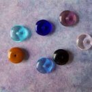Czech Glass Disk Spacer Beads 8x3mm Assorted Colors (GL850)