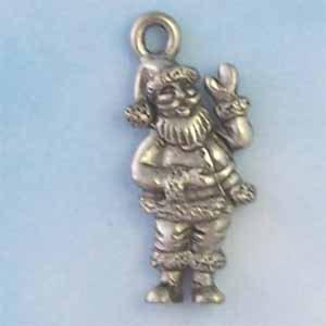 Santa Claus Pewter Charm - Antique Silver (PC391)