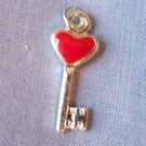 Red Heart Key Charm (PC598)