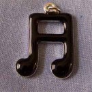 Black Musical Notes Charm (PC515)