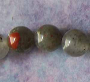 African Bloodstone 8mm Round Beads (GE1260)