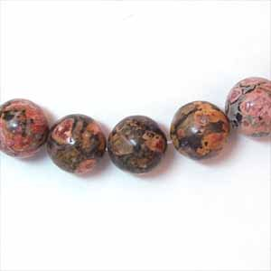 Leopardskin Jasper 10mm Round Beads (GE1119)