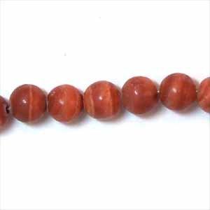 Red Milachite 6mm Round Beads (GE1126)