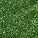 DB046 Miyuki Delica 11o Lt Green Silver Lined Seed beads 15gr (SB898)