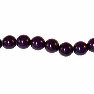 Mountain Jade Purple 8mm Round Beads (GE1431)