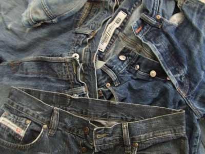 25 DIESEL DISTRESSED DESIGNER JEANS wholesale job lot