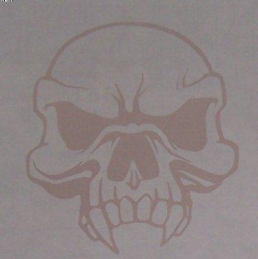 Skull with fangs sticker
