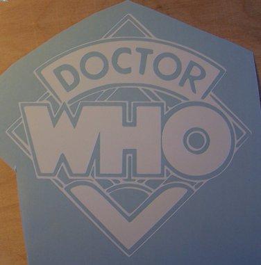 Dr. Who logo sticker