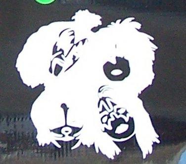 Kiss faces sticker