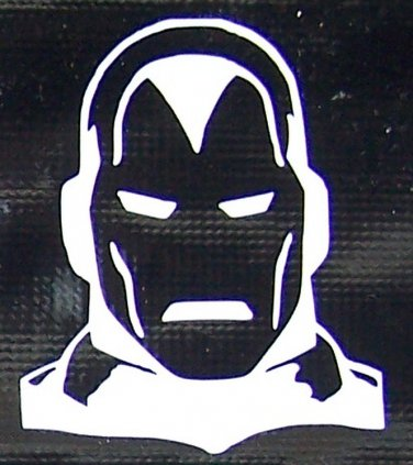 Classic Iron Man head sticker
