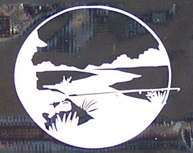Fisherman Circle Vinyl Decal