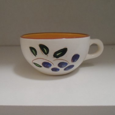 Stangl Pottery Blueberry Flat Cups 1950-78 USA Set of 4