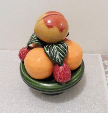 Ceramic Pedestal Fruit Dish Andrea Sedak Portugal Majolica Style