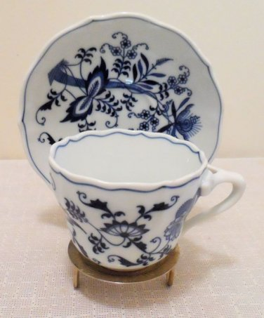 Blue Danube Blue Onion Cup & Saucer Set of 4 Japan