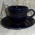 Fiesta Cobalt Flat Cup & Saucer Set 1990