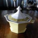 Yellow Bouquet Sauce Boat with Lid Independence Ironstone Japan