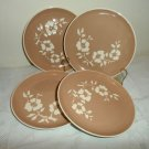Harker Pottery Dogwood Tan Salad Plates Set of 4
