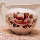 WindsorWare Creamer Brown & Colored Floral Johnson Brothers England