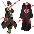 Naruto Akatsuki Cloak Costume with Hat / Hawk Team Sasuke Uchiha Cloak