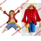 One Piece Monkey D. Luffy 2nd  Clothes/ 2 Years later Cosplay Costume