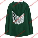 Attack on Titan Cosplay costume Allen Cloak (white + black sign )