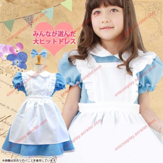 Halloween Kids Girls Deluxe Alice In Wonderland Party Dress Alice Dream Kids Lolita Cosplay Costume