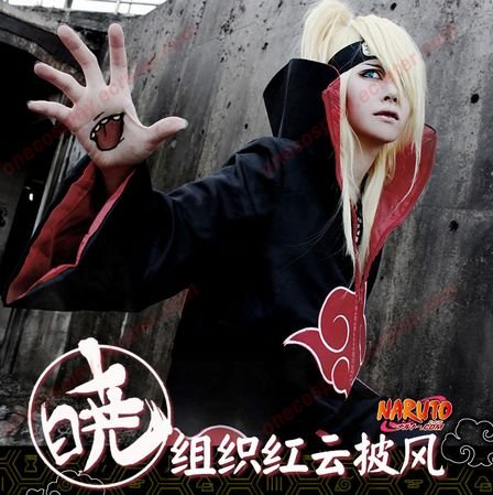 Naruto Cosplay Costume Akatsuki Cosplay Cloak  Uchiha Costume