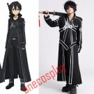 Anime Sword Art Online Cosplay Costumes kirigaya kazuto Kirito Fancy Outfit Cloaks