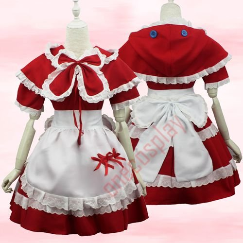 LOL Annie Cosplay Dress Little Red Riding Hood Cosplay Costume Red Hat