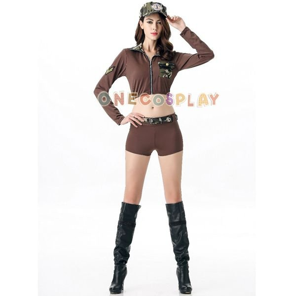 DS Lead Dancer Cosplay Costumes Games Camouflage Military Uniform caftan shorts for Women
