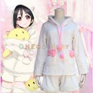 Love Live! School idol project Cosplay Costume Bunny Long Ears Yazawa Nico Rabbit Flannel Pajamas