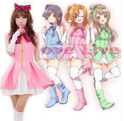 Love Live! Kousaka Honoka/Umi Sonoda/Minami Kotori Cosplay Costume Love Live Start dash! Dress