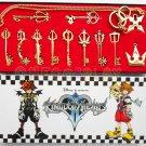 Kingdom Hearts Cosplay Armory Necklace Sora Keyblade Keychain Metal Figure Toy Pendants
