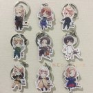 9pcs Axis Powers Cosplay Props Hetalia KeyChains APH Acrylic Key Chain