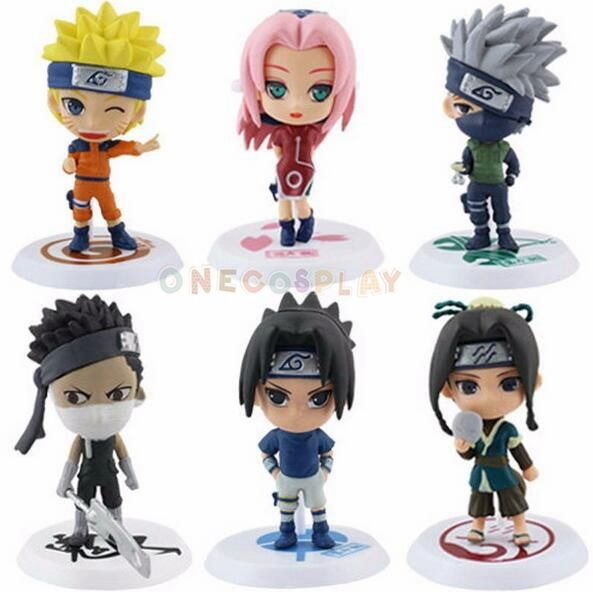 Naruto Cartoon Q Version Naruto/Kakashi/Sasuke/ PVC Model Toys Action Figure For Kids Toy Doll