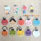 Assassination Classroom Cosplay Key Chains Pendants Korosensei Expression Charm Collection Keychains